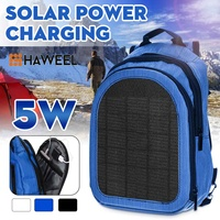 3 Color Haweel Solar Panel Backpacks Convenience Charging Laptop Bags 2L Capacity for Travel 5W Solar USB Charging Port
