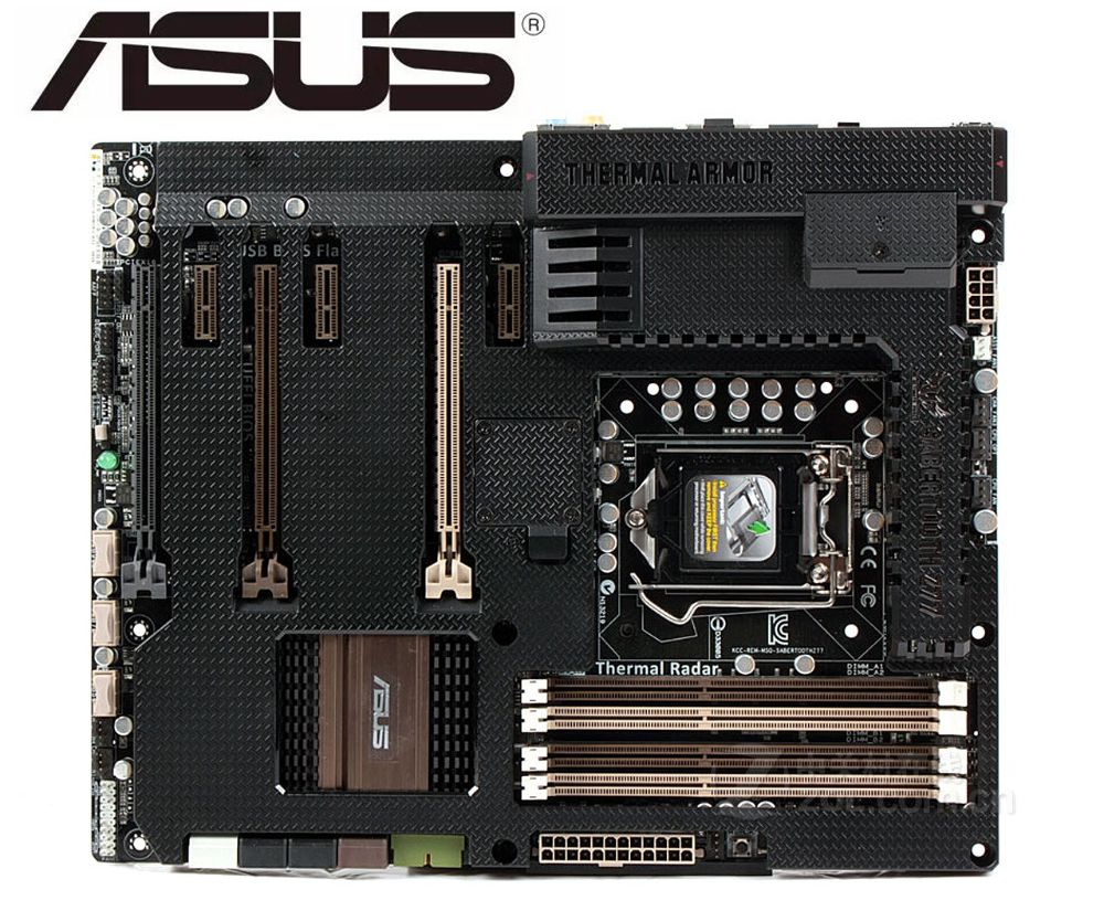 Originais motherboard ASUS SABERTOOTH LGA 1155 USB2.0 Z77 DDR3 USB3.0 32 GB para 22/32nm CPU Z77 Desktop motherboard frete grátis