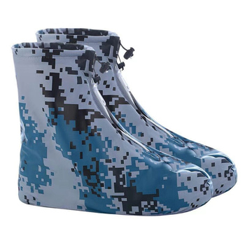 Waterproof Shoe Protectors with Zipper and Non Slippery Sole for Indoor and Outdoor in Rainy Days to Keep Shoes Dry and Clean