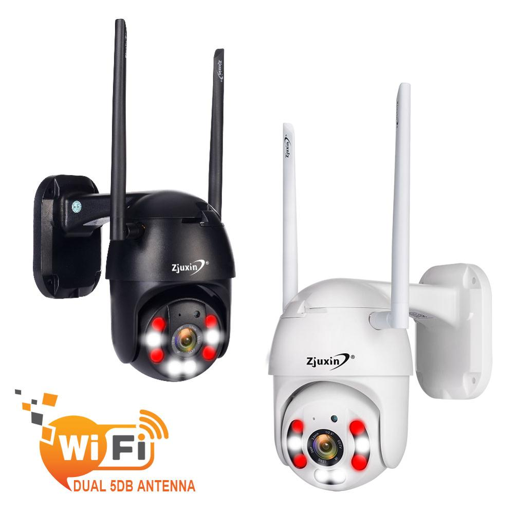 Zjuxin PTZ Wifi Camera Wireless Outdoor PTZ Ip Camera Waterproof 1080P Security Camera Double Light Ipcam ICSee