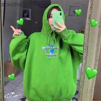 Hoodies Frauen Mädchen Frühling Herbst 2019 Koreanische Stil Chic Dünne Gedruckt Streetwear Ulzzang Weiche Lose Große Größe Frauen Sweatshirt