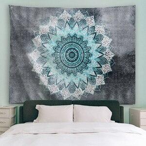 Image 2 - PROCIDA Mandala Tapeçaria Tapeçaria de Arte Tecido de Poliéster Padrão Tema, Decoração Da Parede para o quarto de Dormitório, Quarto, Prego incluído