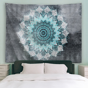 Image 2 - PROCIDA Tapestry Wall Hanging  Art Polyester Fabric Mandala Pattern Theme, Wall Decor for Dorm,Bedroom, Nail included
