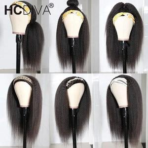 Image 2 - Кудрявый прямой парик 13х1, человеческие волосы спереди, парики для женщин, предварительно отобранные с волосами ребенка, бразильские Реми, итальянский парик яки