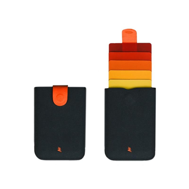 2020 New For DAX V2 Mini Slim Portable Card Holders Pulled Design Men Wallet Gradient Color 5 Cards Money Short Women Purse