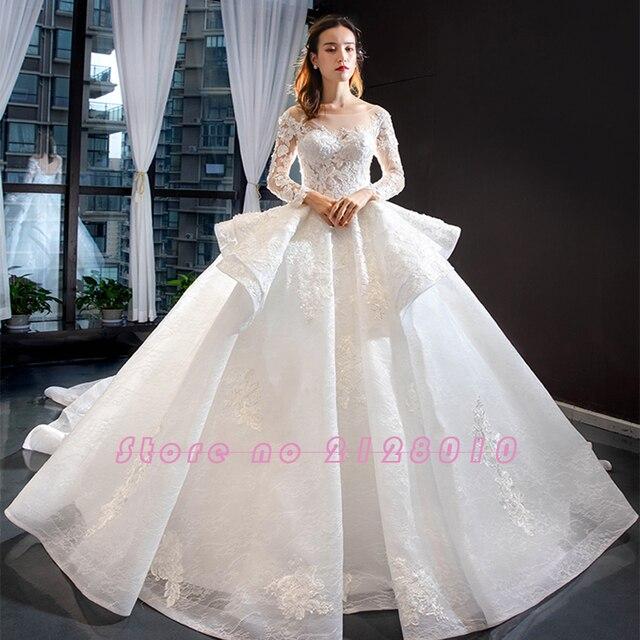 New Arrivals Gorgeous Long Sleeve Beading Lace Wedding Dress China Shop Online Vestido De Noiva Princesa 5