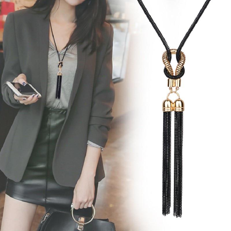 Новое поступление 2020, женское ожерелье с подвеской, длинная цепочка для зимнего свитера, женские ожерелья, оптовая продажа