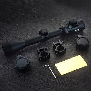 Image 5 - Mira óptica 3 9x40 com visor óptico vermelho verde, mira telescópica iluminada para rifle de atirador, com telêmetro