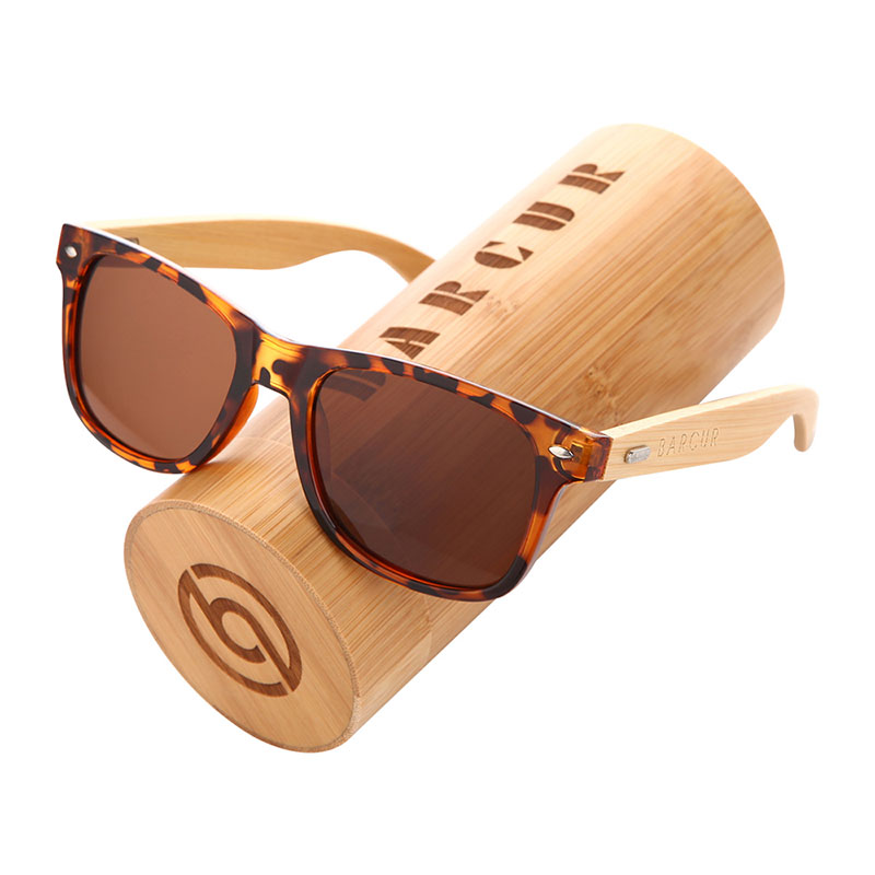 BARCUR Polarized Bamboo Sunglasses Men Wooden Sun glasses Women Brand Original Wood Glasses Oculos de sol masculino 12