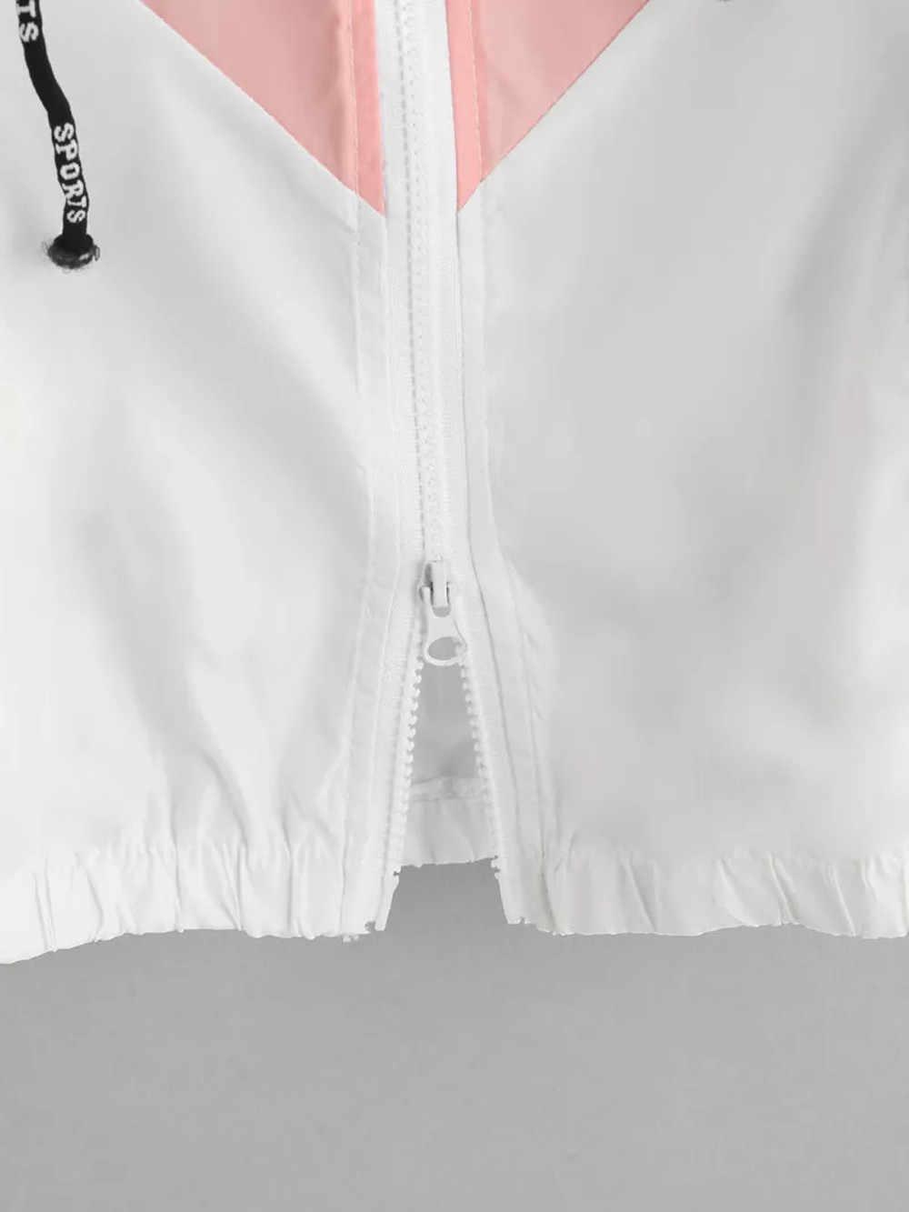 Женское повседневное лоскутное тонкое спортивное пальто с капюшоном на молнии с карманом, весенние женские Модные осенние уличные куртки для бега