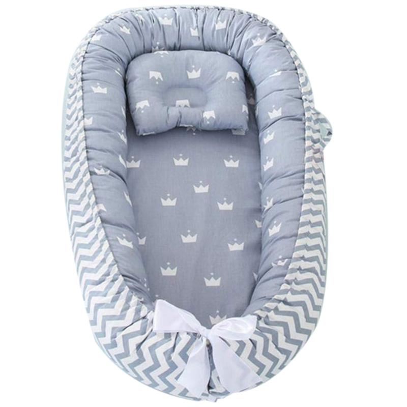 Portable Newborn Baby Sleep Bed Infants Crib Lounger Breathable Cotton Simulated Uterus Cradle Infant Bed Toddler Care Tool