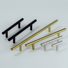 Ручка 50 мм-500 мм ручки из нержавеющей стали Диаметр 10 мм дверца кухонного шкафа Т-образная прямая ручка ручки для мебели