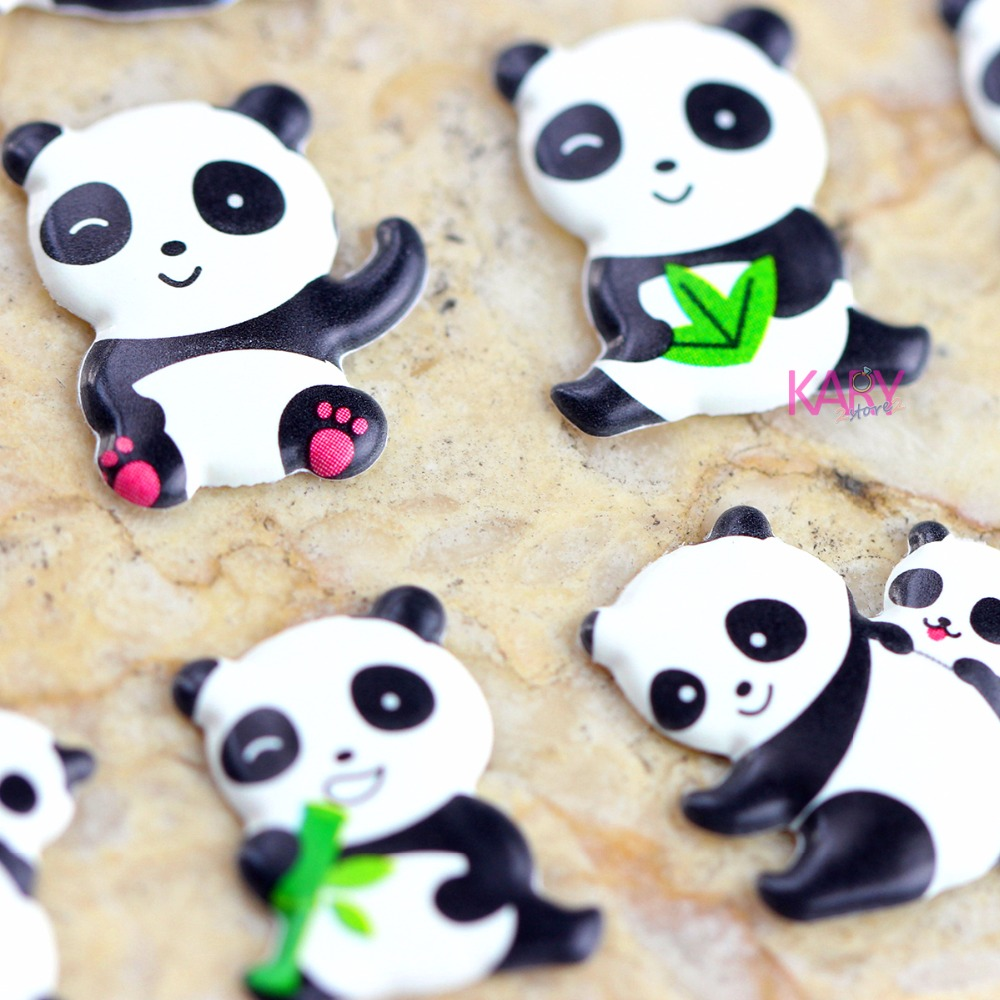 Cute Pandas Animals Zoo Bubble Scrapbooking Stickers High Quality Kawaii Gift Reward Kids Toys For Children Diary Stationery 19