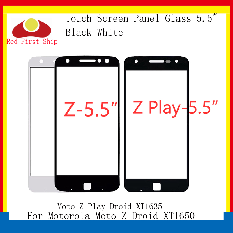 10Pcs/lot Touch <font><b>Screen</b></font> For Motorola Moto Z Droid XT1650 / Z Play Droid <font><b>XT1635</b></font> Touch Panel Front Outer LCD Glass Lens For Moto Z image