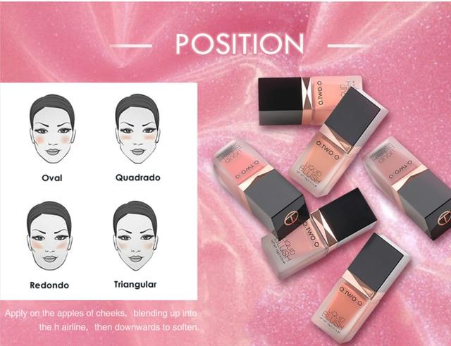 O.TWO.O Makeup Face Liquid Blusher Waterproof Long Lasting Lip liquid Natural Cheek Face Base Contour Blush Makeup 5