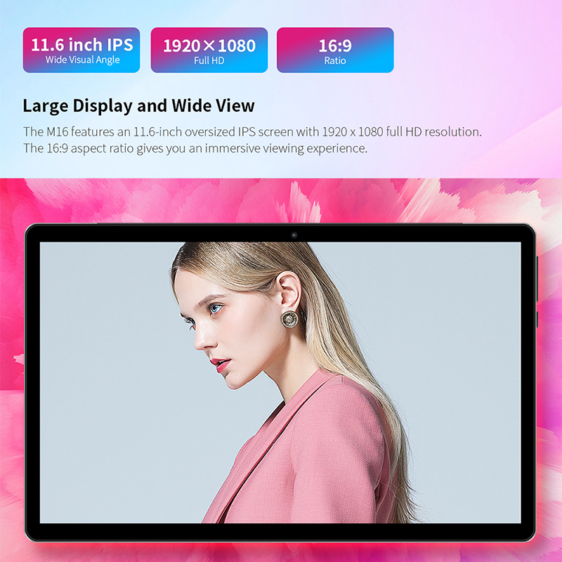 "Image 4 - Teclast M16 11.6"" Android Tablet Helio X27 Deca Core 4GB RAM 128G ROM 4G Network Tablets PC 8.0MP Docking Type C HDMI 7500mAhTablets   -"