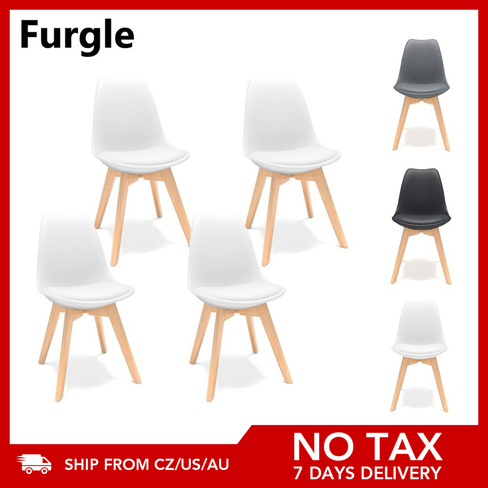 Furgle 4pcs Set Dining Chair Scandinavian Design Coffee Chairs With Solid Wood Leg Cushions Desk Chairs For Kitchen Dining Room Dining Chairs Aliexpress
