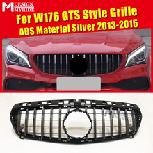 W176 Grille GTS Style Front ABS Material Silver Fits For MercedesMB A-Class A180 A200 A250 A260 Without Emblem 2013-2015