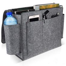 Extra Large Felt Bedside Organizer Hanging Storage with Pockets for Book Phone Remote Bag For Bed Table Sofa