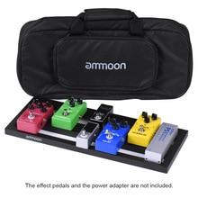 Ammoon DB 2 נייד גיטרה דוושת לוח אלומיניום סגסוגת עם נשיאת תיק קלטות רצועות גיטרה אביזרי גיטרה דוושת תיק