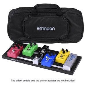Image 1 - Ammoon DB 2 נייד גיטרה דוושת לוח אלומיניום סגסוגת עם נשיאת תיק קלטות רצועות גיטרה אביזרי גיטרה דוושת תיק