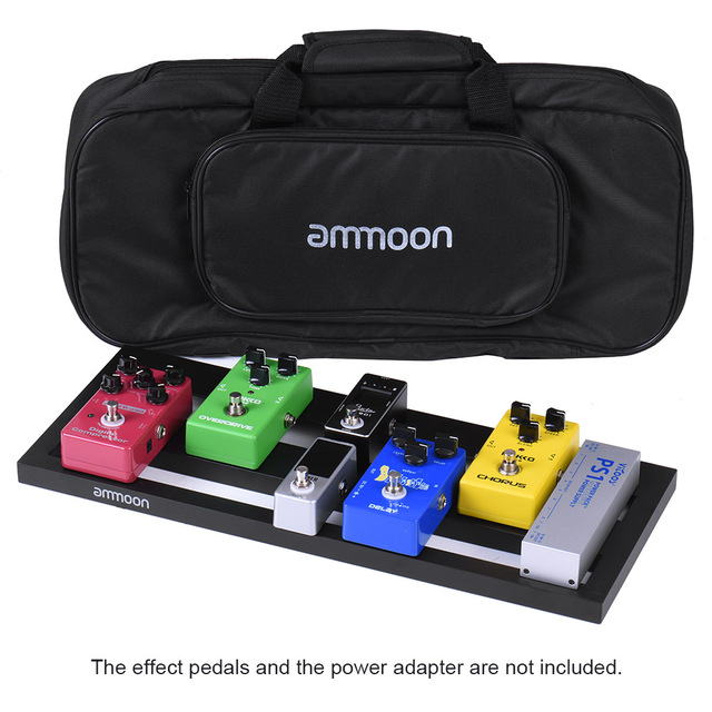 ammoon DB 2 Portable Guitar Pedal Board Aluminum Alloy with Carrying Bag Tapes Straps guitar accessories guitar pedal bag