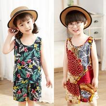 2pcs/set Children Boy Girl Summer Sleeveless Vest Suit