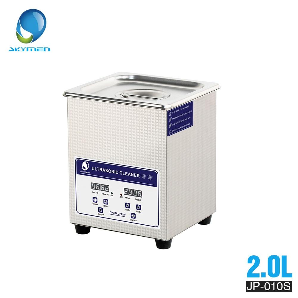 SKYMEN Digital Ultrasonic Cleaner Bath 2l ultrasonic cleaner 60W 110/220V pcb cleaner golf ball washer-in Ultrasonic Cleaners from Home Appliances