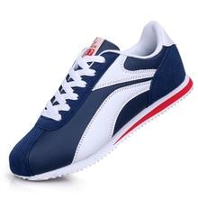 Baskets légères pour hommes à lacets chaussures décontractées homme en plein air marche homme chaussures plates bleu gris chaussures de Jogging formateurs 8 8.5 9 9.5