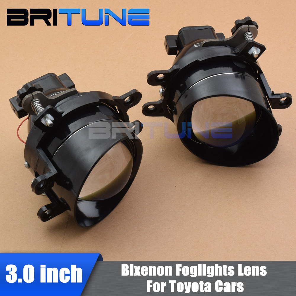 Luzes de nevoeiro lente bixenon para toyota corolla/yaris/avensis/camry/rav 4/peugeot/lexus h11 hid lentes do projetor acessórios retrofit