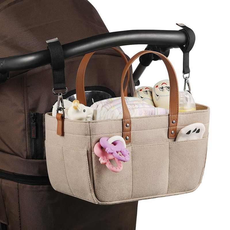 Baby Diaper Caddy Organizer - Baby Shower Basket Portable Nursery Storage Bin Car Storage Basket for Toys