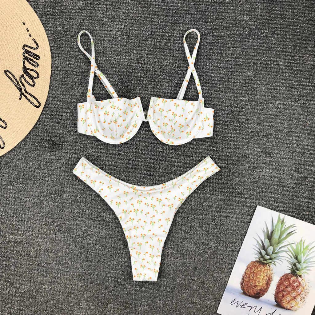 Frauen Strand Volleyball Bikinis Sets Sommer Bad Tankini Niedrigen Taille Sexy Bademode Weiblichen Push-Up Padded Bikini Sling Badeanzüge