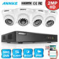ANNKE 1080 1080P 8CH セキュリティシステム Lite + 5in1 1080N DVR 4 個 1080 1080p スマート IR ドーム屋外耐候 CCTV カメラ