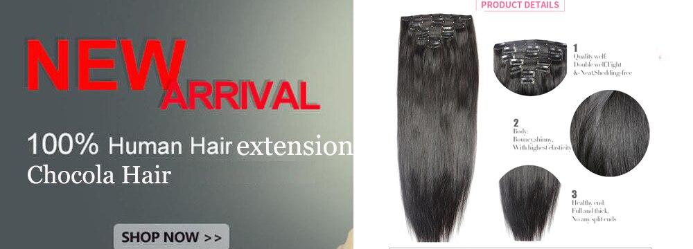 grampo em 100% extensões de cabelo humano cavalete stragiht