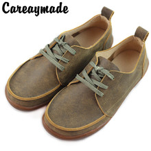 Careaymade-New Retro Leather flat sole casual shoes women's