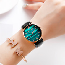Women Watches Luxury Green Dial Ladies Watch Quartz Waterproof Ultra-Thin Stainless Steel Strap Wristwatch Reloj Mujer