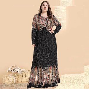 Ramadan Plus Size Arabic Abaya Hijab Muslim Long Dress Turkish Dresses Abayas For Women Vestidos Kaftan Dubai Islamic Clothing