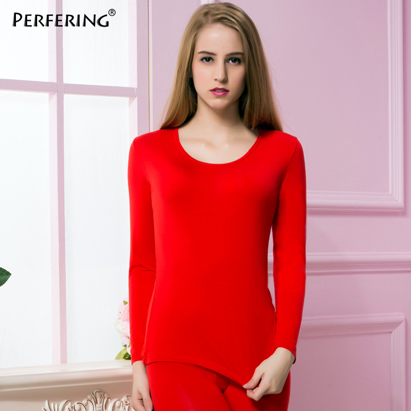 Perfering New Winter Thermal Underwear Thin Long Johns Body Shaped Keep Warm Long Sleeve Female Clothing Soild Size M L XL XXL