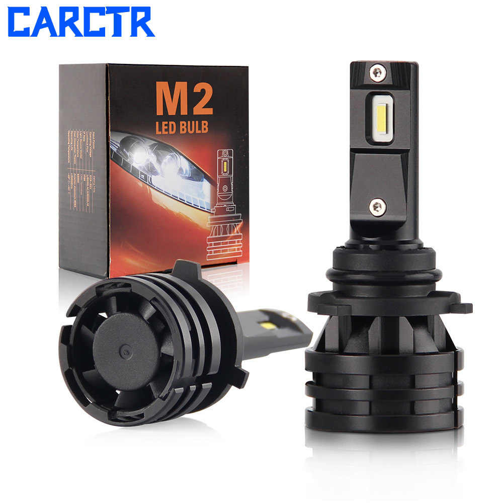CARCTR LED Headlight Bulbs for Car H7 H1 9005 9006 H11 9012 H4 H13 1860 12V 28W Super Bright Modified High Low Beam Headlight M2