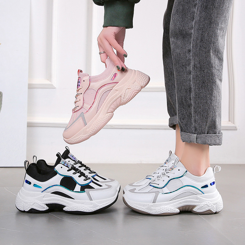 Spring Women Chunky Sneakers Fashion Platform Basket Female 6cm Luxury Designers Black Tennis Old Dad Casual Shoes Woman