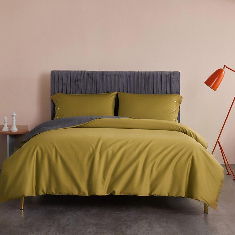 High End Premium Egyptian Cotton Duvet Cover set Ultra Soft Reverisible Bedding set Sheet 2 Pillow shams Queen King size 3/4Pcs