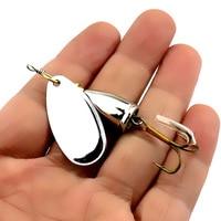 Hengjia 10 pcs 6.5 cm 8.5g 단단한 금속 spinnerbaits 트롤링 블레이드 장식 조각 회 전자 숟가락 wobbler 메기 pesca 낚시 태클