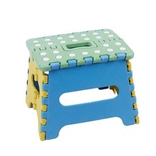 Folding stool seat step 22 x 17 18cm Plastic up to 150 Kg foldable
