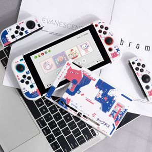 Image 5 - Carcasa protectora rígida para Nintendo Switch, carcasa protectora trasera, color rosa, blanco mate, para NS Joy con