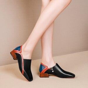 Image 3 - 女性のフラットシューズ本革フラットプラットフォーム brogues 女性夏の女性のグラディエーターフラットラバーソール靴 2020