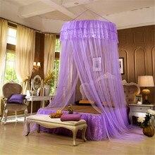 Cama dossel cores pendurado mosquito net princesa cama tenda cortina dobrável dossel na cama elegante rendas fadas dossel