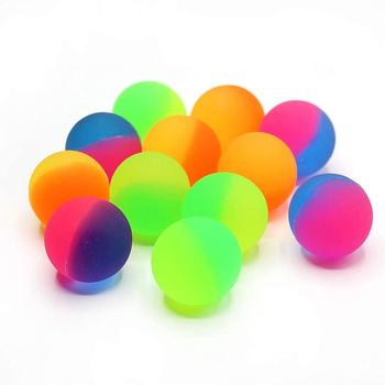 1pcs Creative Bouncy Ball Funny Toy Rubber Jump Ball Mixed Super Bouncy Ball Children Elastic Rubber Ball For Kids Gifts image