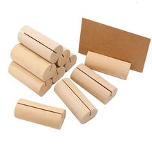 10Pcs Wooden Place Card Holder Base Name Card Table Numbers Memo Picture Photo Holder For Party Christmas Wedding Decorations sector holder place card gold silver table numbers place card holder wedding placeholders wedding table numbers