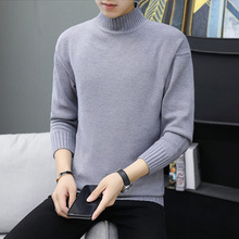 Spring Sweater Men Autumn Long-sleeved White Beige Gray Black Military Green Coffee Turtleneck Pullovers Casual Mens Sweaters