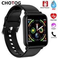 2020 חכם שעון גברים נשים לחץ דם מדידה Smartwatch עמיד למים IP67 חמצן קצב לב שעון חכם עבור אנדרואיד IOS